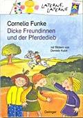 """Dicke Freundinnen und der Pferdedieb"", <br> Cornelia Funke – illustriert von Daniela Kulot <br> Oetinger, 2001<br>•<a href=""http://www.amazon.de/exec/obidos/ASIN/3789111503/qid=1095501000/sr=1-4/ref=sr_1_11_4/302-8916616-6544029  "" target=""_blank"">Buchhandel</a>"