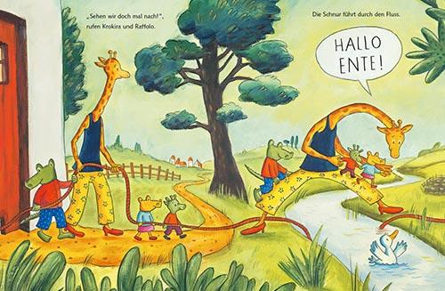 Krokodil und Giraffe